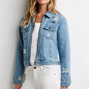 life in progress Distressed Denim Blue Jean Jacket